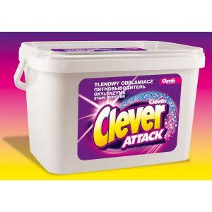 clovin clever attack tlenowy odplamiacz w proszku do tkanin bialych i kolorowych 36 kg